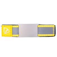 ID sobre correa en velcro para usar en los cordones del zapato - placa 18*28 mm