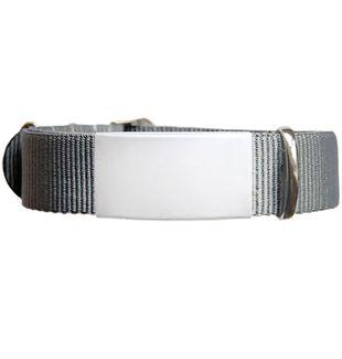 ID de emergencia con correa en nylon tipo reloj con diseño tipo militar gris 240*14