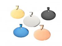 ID circular en acero inoxidable   30*30 mmvarios colores