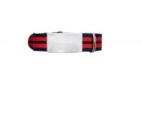 ID de emergencia con correa en nylon tipo reloj con diseño tipo militar negra con doble raya naranja 245 mm ancho 14mm - 18mm