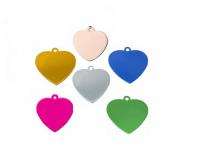 Id corazón acero inoxidable 316 plateado y otros colores  18,5*20 mm